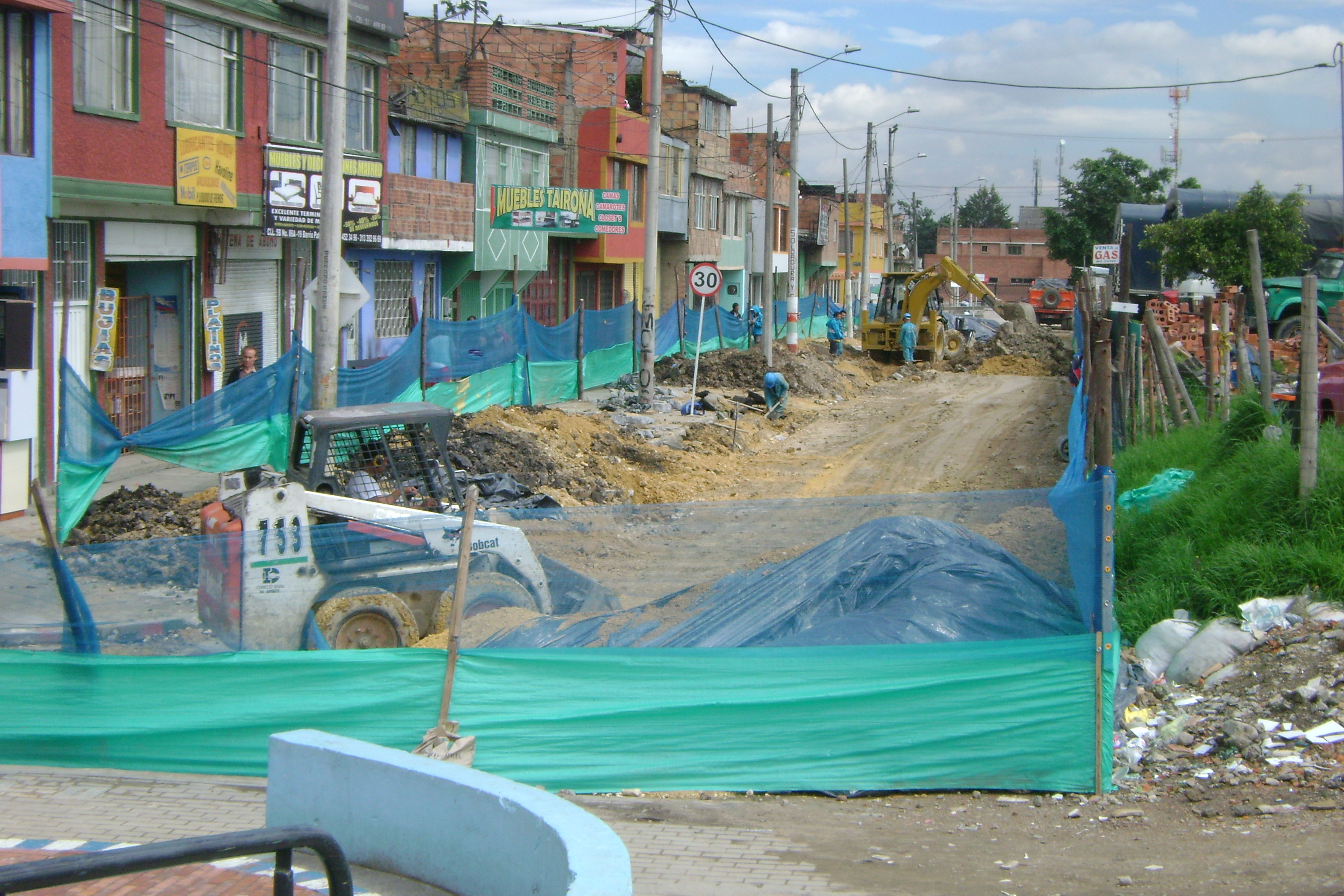 Avanza arreglo de calle 5a con carrera 86 de patio bonito for Patio bonito