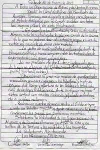 Carta presas en Paraguay