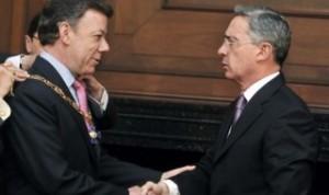 Juan Manuel Santos y Alvaro Uribe Vélez