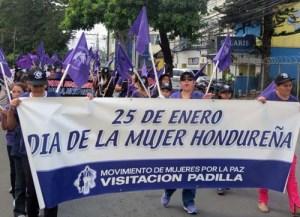 Protesta de mujeres en Honduras