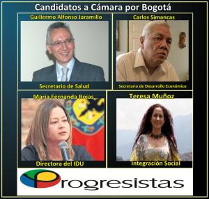 Candidatos Progresistas Cámara por Bogotá