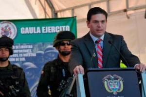 Juan Carlos Pinzón, ministro de defensa de Colombia