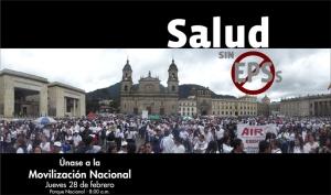 Movilización por la salud en Bogotá