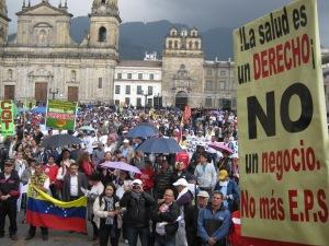 Educadores se concentraron en la Plaza de Bolívar en Bogotá