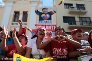 Seguidores de Hugo Chávez