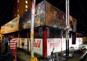 Casas quemadas en Venezuela
