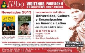 En feria del libro de Bogotá lanzan libro Universidad, Cultura y Emancipación en América Latina
