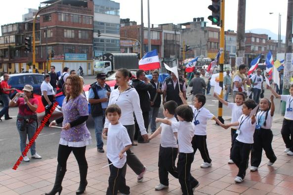 Marcha 9 de Abril en Bogotá Fray Juan De La Paz