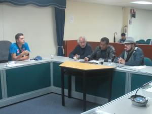 Alejandro Cárdenas, Emilio Gaviria, Nelson Armesto y Edgar Suárez (Tito)