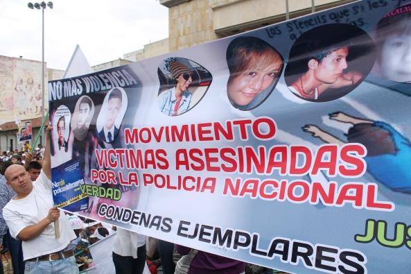 Mujer asesinada por policías en Bogotá
