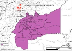 Mapa Politico Meta
