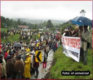 Protesta de campesinos paperos