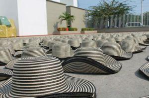 Sombrero vueltiao chino decomisados por la Policía Nacional